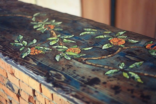 bartisch set bartisch selber bauen mosaik