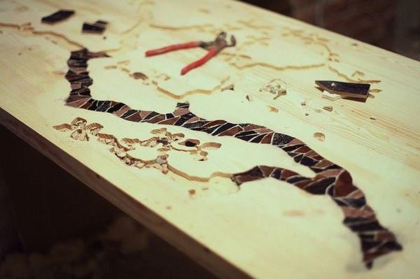 bartisch set bartisch selber bauen schnitzen