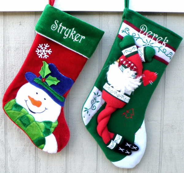 bastelideen für weihnachten nikolaus stiefel aufhängen