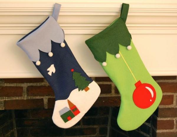 bastelideen für weihnachten nikolaus stiefel basteln