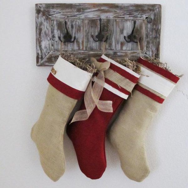 bastelideen für weihnachten nikolausstiefel basteln