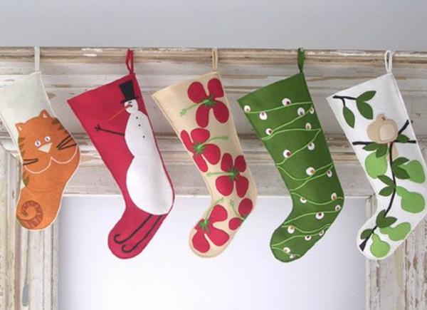 bastelideen für weihnachten nikolausstiefel nähen basteln mit filz