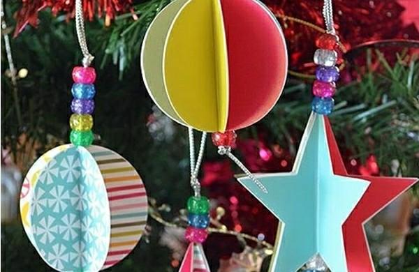 bastelideen-weihnachten-weihnachtsbaum-schmuck-kugeln-sternchen