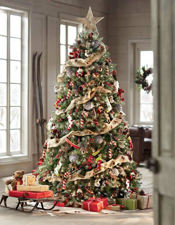 bastelideen weihnachten weihnachtsschmuck basteln tannenbaum schmcken - Christbaum Schmucken Beispiele