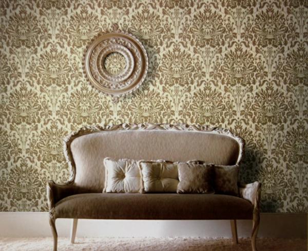 Die Antwort Ist: Das Zweite, Doch Mit Einer Imitation Des Ersten. Beige  Braun Sofa Wanddekoration