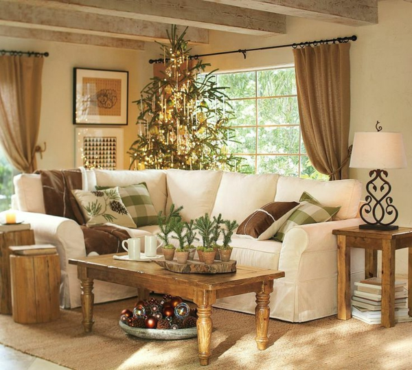 couchtisch kolonial weihnachtsbaum