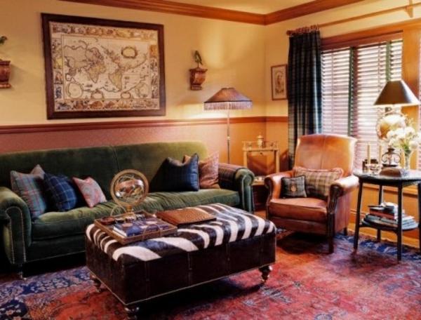 Couchtisch kolonial richten sie ihr zuhause stilvoll ein - Stuhl zebramuster ...