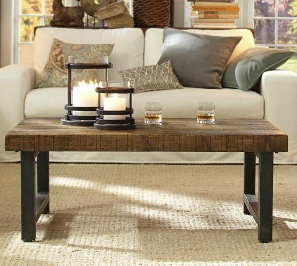Griffin Reclaimed Wood Coffee Table: Modelle Von Wohnzimmertischen Aus Holz