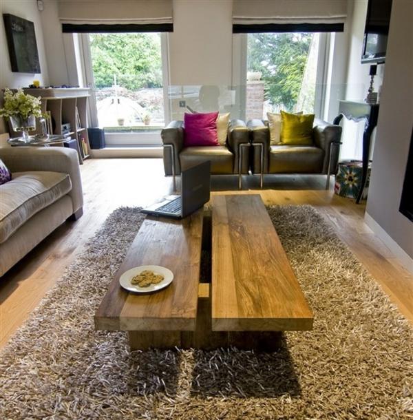 couchtisch massivholz wohnzimmertische massivholzmöbel teppich