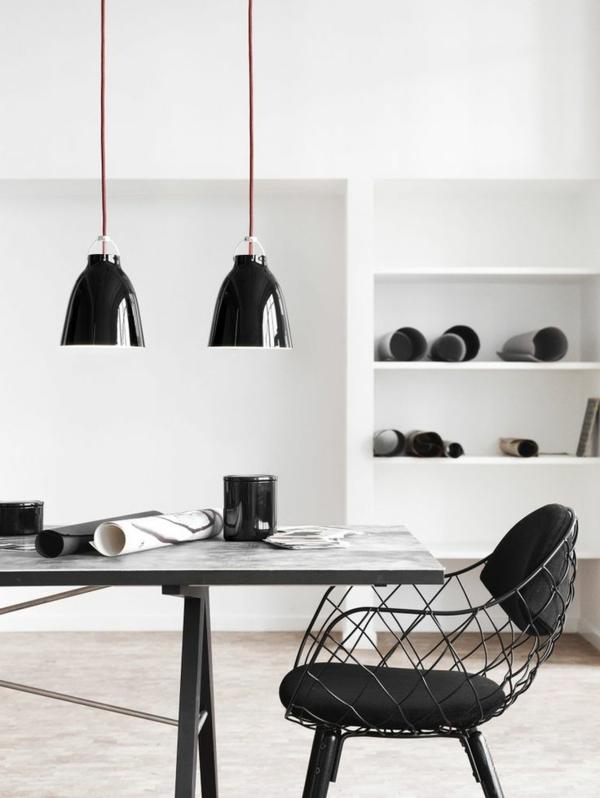 dänisches design möbel cecilie manz caravaggio pendelleuchten esszimmer