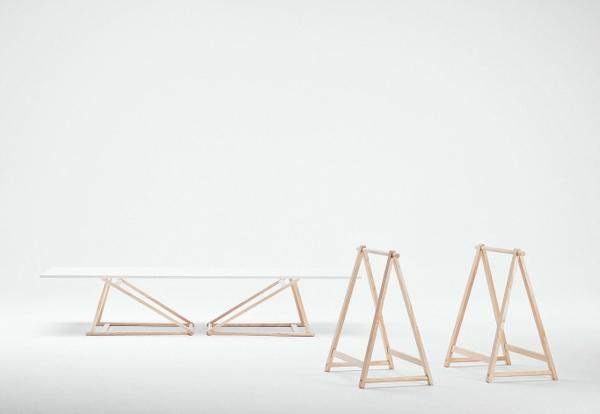 dänisches design cecilie manz trestle tisch
