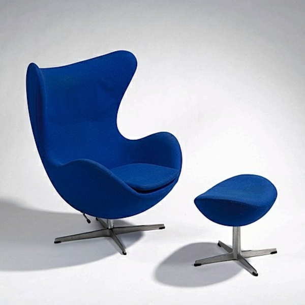 dänisches design möbel Arne Jacobsen egg chair blau