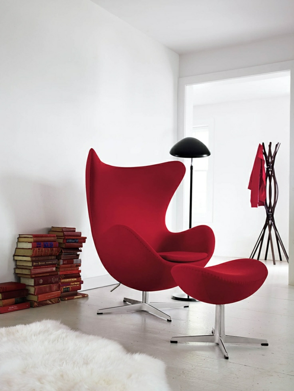 dänisches design möbel Arne Jacobsen egg chair rot