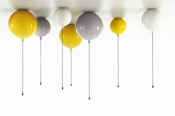 deckenleuchte helium ballon gelb weiß grau