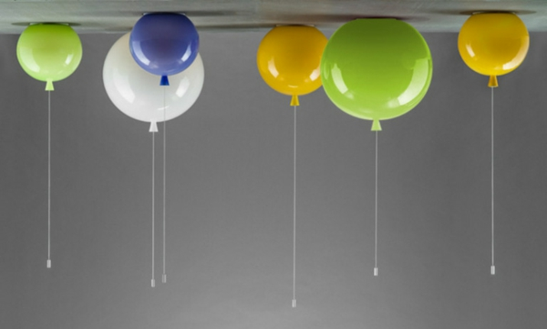 innovative deckenlampe in form von einem helium ballon. Black Bedroom Furniture Sets. Home Design Ideas