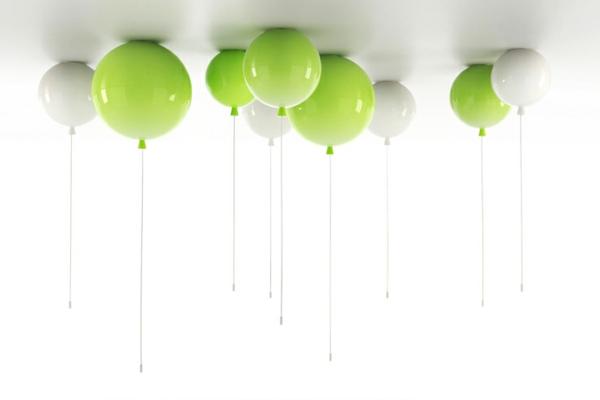 deckenleuchte helium ballon grün weiß