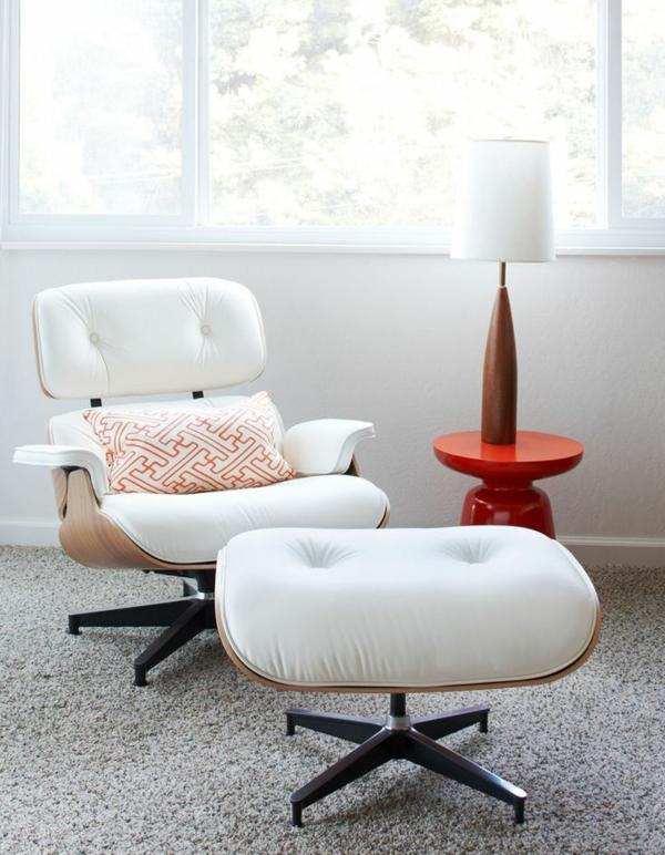 designer sessel Charles Eames Lounge Chair weiß