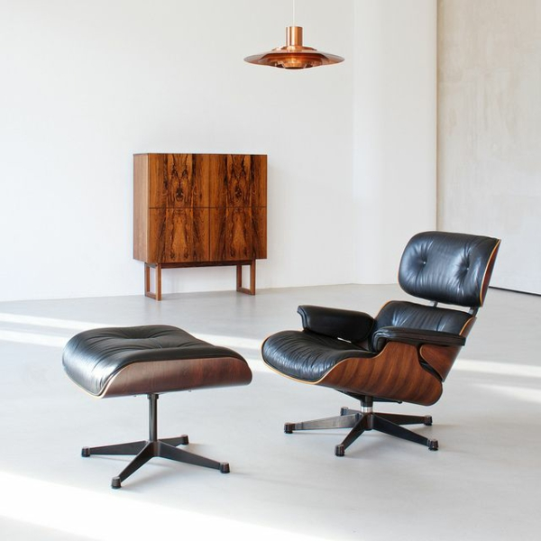 designer sessel Charles Eames Lounge Chair wohnzimmermöbel ledersessel