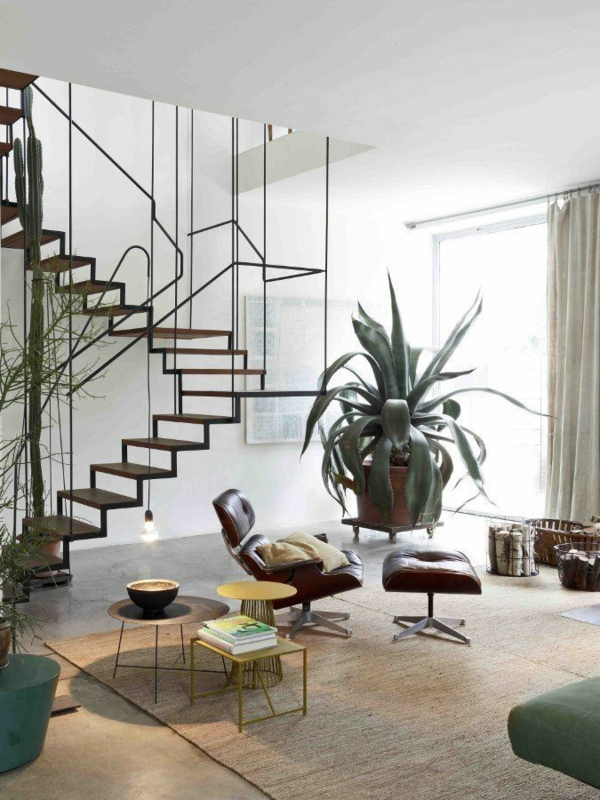 designer sessel Eames Lounge Chair wohnzimmermöbel ledersessel