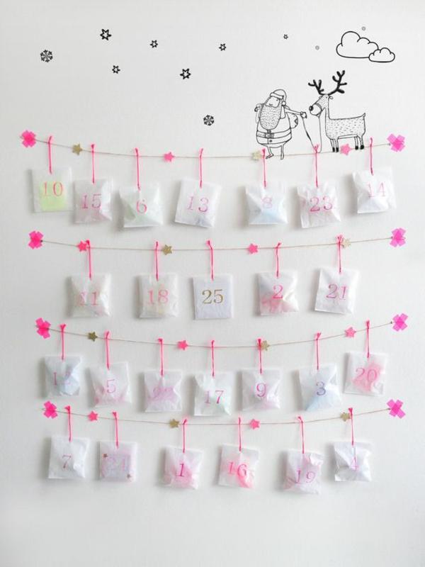 Wollen sie einen adventskalender selber basteln kreative bastelideen - Calendrier de l avent personnalise idee cadeau ...