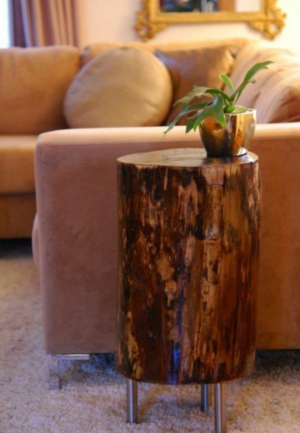 Echtholzm bel nachhaltig und praktisch sch n for Holzklotz beistelltisch