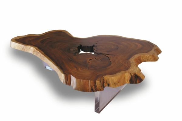 naturholzmöbel couchtisch baumstammscheibe