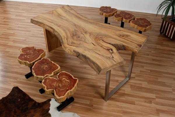 echtholzmöbel esstisch bänke