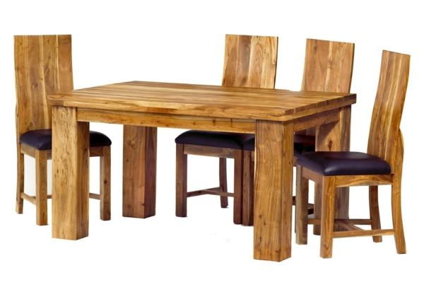 echtholzmöbel esstisch stühle