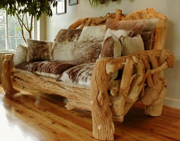 echtholzmöbel naturholz sofa