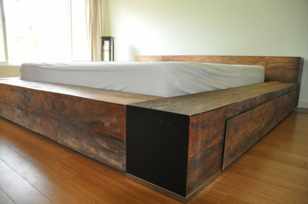 Bett Holzbalken war schöne stil für ihr haus ideen