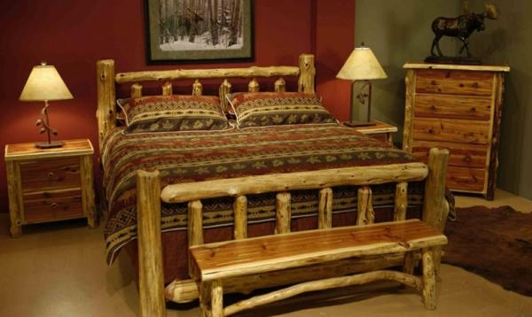 naturholzmöbel schlafzimmer bett