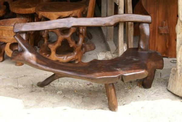 naturholzmöbelsitzbank
