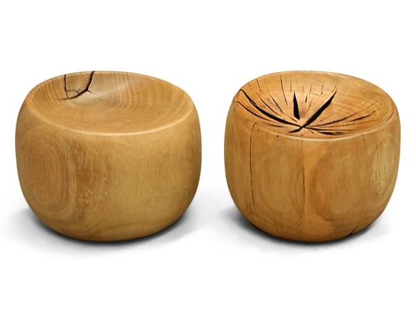 naturholzmöbel zwei hocker