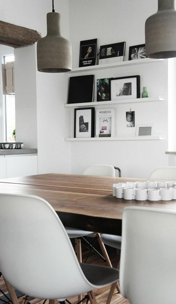 esszimmer landhausstil rustukaler esstisch holzmöbel