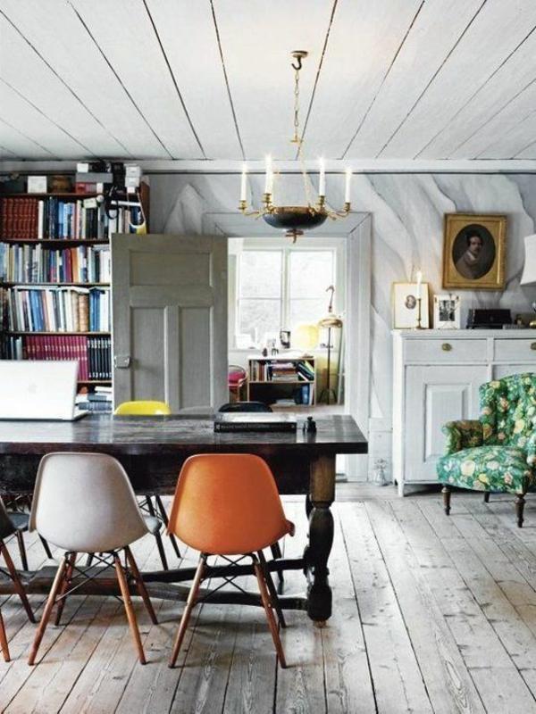 esszimmer rustikal einrichten holz esstisch echtholzmöbel