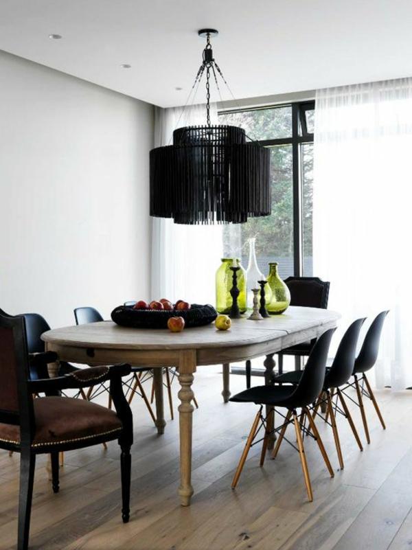 esszimmer lampen luxus schwarz pendelleuchten esszimmer gestalten