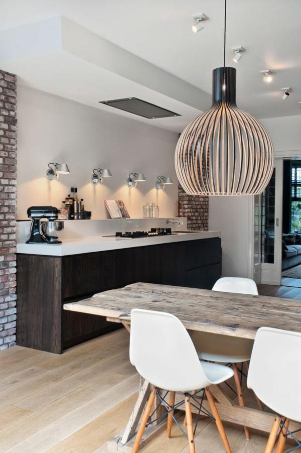 Keuken Lampen Design : Esszimmerlampe mit geflochtenem Lampenschirm