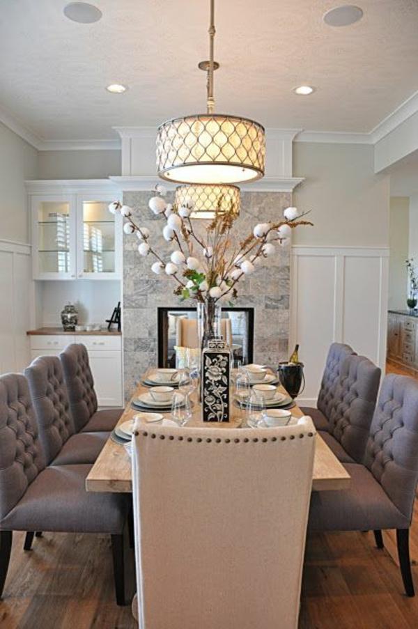 esszimmerlampen traditionell pendelleuchten esszimmer gestalten