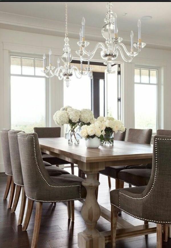esszimmertisch mit stühlen esstisch echtholz polsterstühle massivholzmöbel
