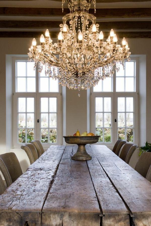 esszimmertisch mit stühlen esstisch rustikal massivholzmöbel