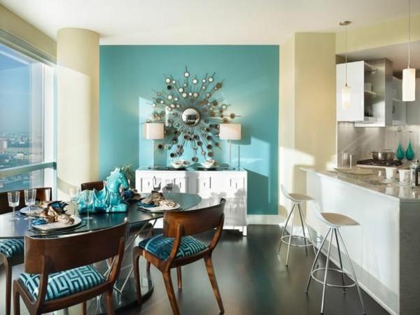 wandfarbe t rkis f r ein modernes zuhause. Black Bedroom Furniture Sets. Home Design Ideas