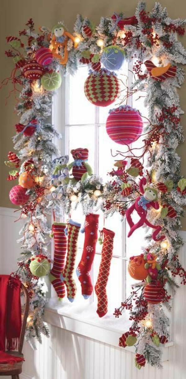 fensterdeko f r weihnachten wundersch ne dezente und. Black Bedroom Furniture Sets. Home Design Ideas