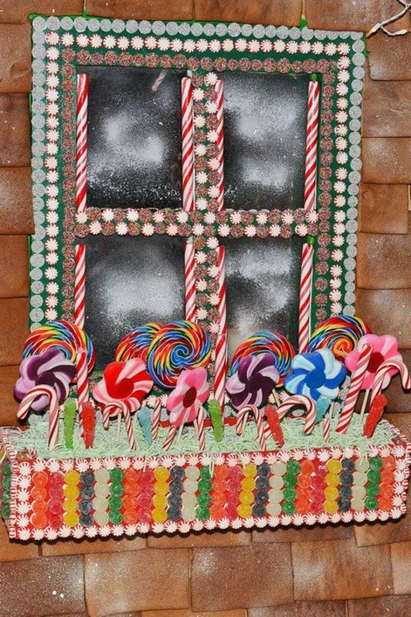 fensterdeko für weihnachten lutzscher zuckerstangen bonbons
