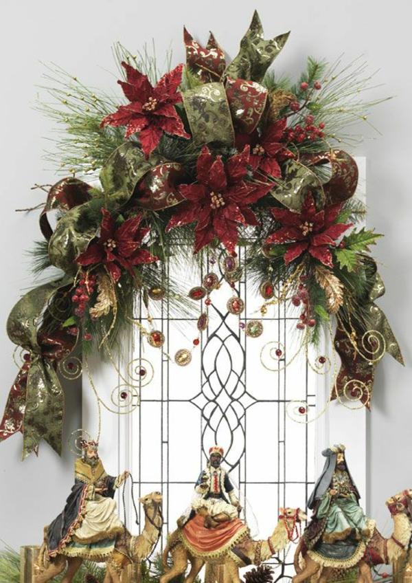fensterdeko für weihnachten weihnachtssterne die drei könige