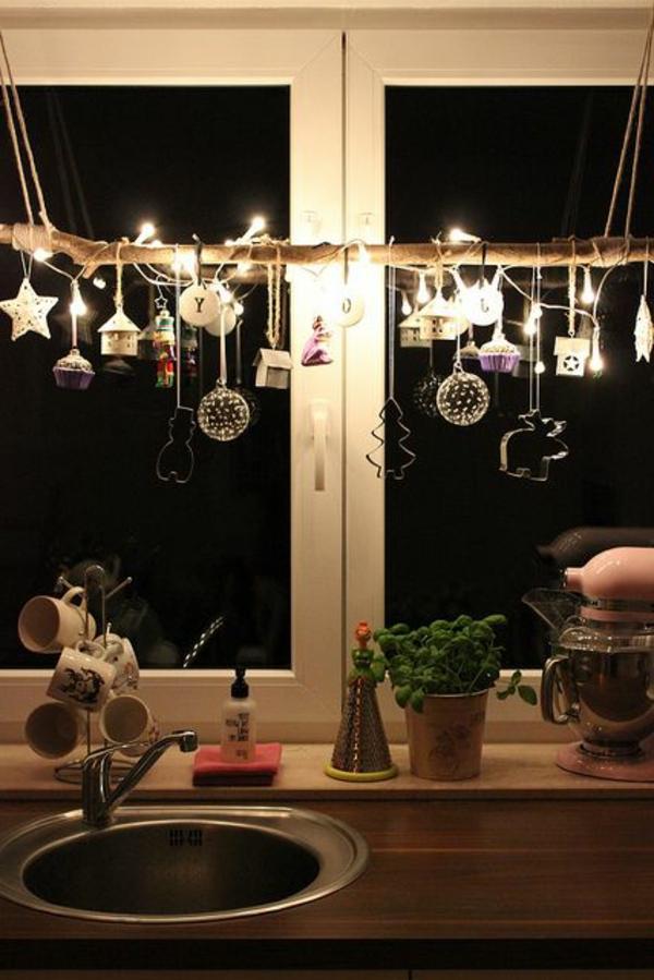 fensterdeko für weihnachten anhänger ausschneideformen