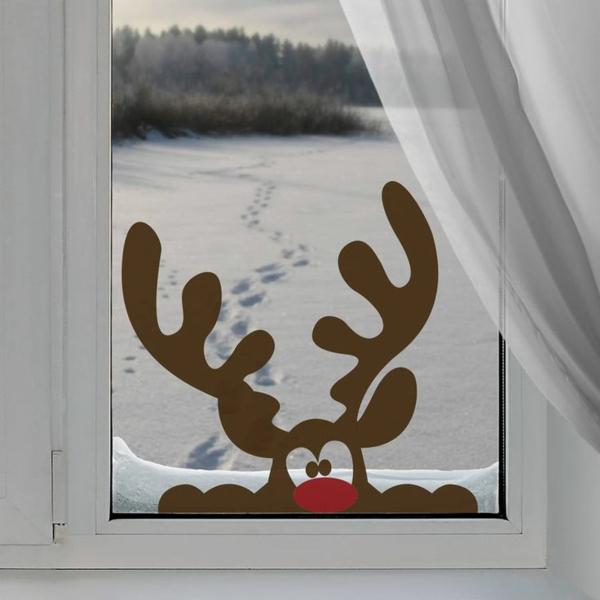 fensterdeko weihnachten bastelideen für weihnachten fenster sticker