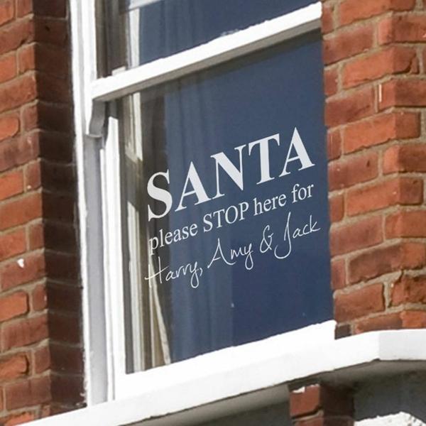 fensterdeko weihnachten bastelideen für weihnachten fenstersticker santa