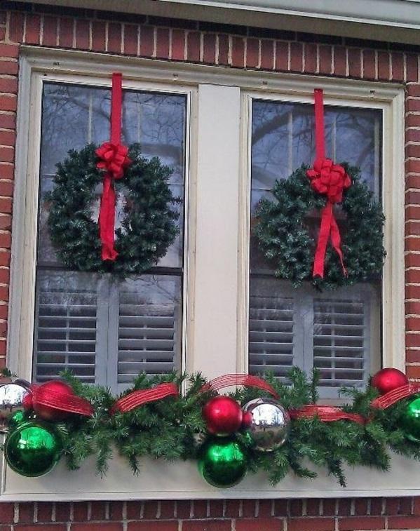 fensterdeko weihnachten von außen weihnachtsdeko fenster