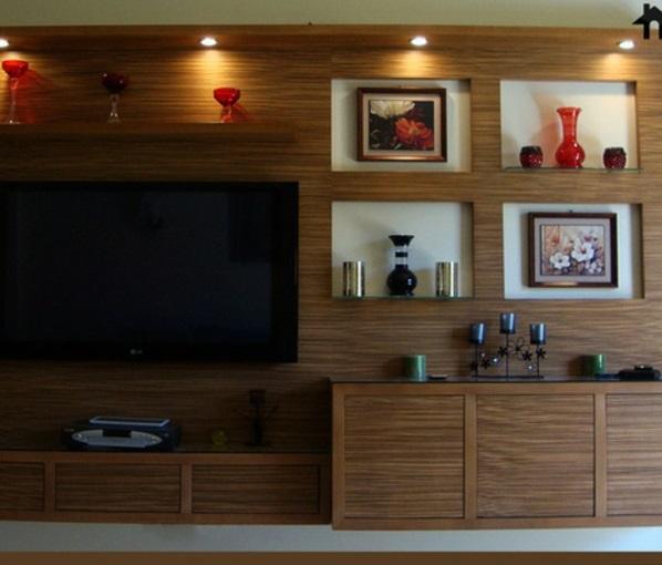 wohnzimmereinrichtung licht fernsehschränke holz