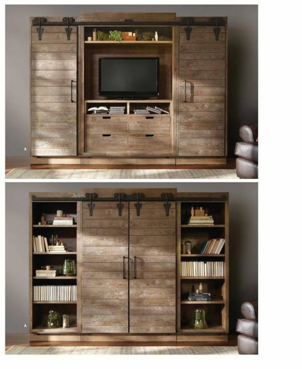 fernsehschränke rustikal wohnzimmer design
